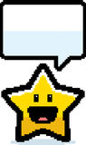 8-bit Cartoon Star. A cartoon illustration of a star in an 8-bit graphic style Vector Illustration
