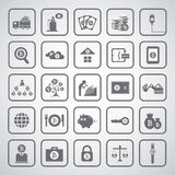 Bit coin icons Royalty Free Stock Photo