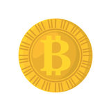 Bit coin isolated icon Royalty Free Stock Images