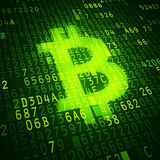 Bit coin symbol Stock Image