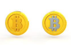 Bit coin. Of two types Stock Photos