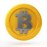 Bit coins. The bit coin on white background Royalty Free Stock Photo