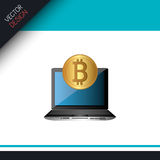 Bit coins design Royalty Free Stock Photography