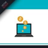 Bit coins design Stock Photo