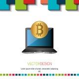 Bit coins design Stock Image