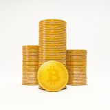Bit coins, the virtual currency. Concept illustration Stock Images