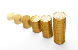 Bit coins, the virtual currency Stock Photography