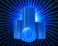 Bit coins, the virtual currency Stock Photos
