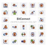 Bit Connect Crypto Currency icons set. For web design and application interface, also useful for infographics. Vector illustration Royalty Free Stock Photos