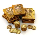 Bit currency 3d concepts. Royalty Free Stock Images