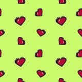 8bit 3d心脏 库存图片