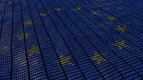 Bit e byte di protezione dei dati GDPR di UE illustrazione di stock