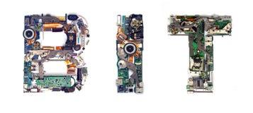 Bit electronic Royalty Free Stock Image