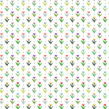 8 bit flower pattern. Colorful 8 bit flower pattern with white background Stock Images