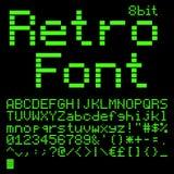 8 bit font Royalty Free Stock Image