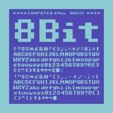 8 bit font Stock Images