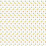 8bit fruits pattern Royalty Free Stock Image