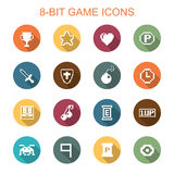 8-bit game long shadow icons Stock Photography