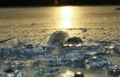 Bit of Ice. On ice in sunlight Royalty Free Stock Photos
