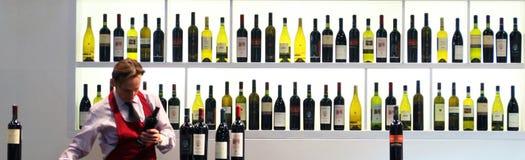 BIT, International Tourism Exchange. Wine tasting area background at BIT 2012, International Tourism Exchange in Milan, Italy Stock Images