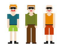 8bit men set Royalty Free Stock Photo