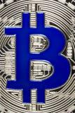 Bit-mynt objekt på grå bakgrund Royaltyfria Bilder
