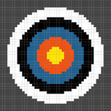 8-bit Pixel-art Archery Target Royalty Free Stock Photography