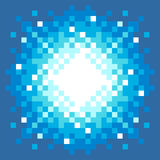 8-Bit Pixel-art Explosion. On a Blue Background royalty free illustration