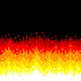 8-Bit Pixel-art Fire Background Royalty Free Stock Images