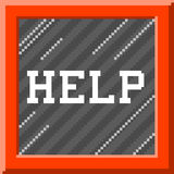 8-bit Pixel Art Help Message in Emergency Glass Box. EPS8 Vector Stock Photo