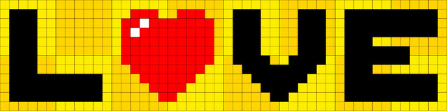 8-bit Pixel Love Stock Image