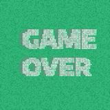 8-bit Pixel Game Over Message. Vector background Royalty Free Stock Image