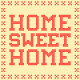 8-bit Pixel Home Sweet Home Mat stock illustration