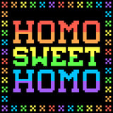 8-bit Pixel Homo Sweet Homo Sign Royalty Free Stock Photo