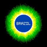 8-Bit-Pixel-Kunst Brasilien-Weltkonzept Lizenzfreie Stockfotografie