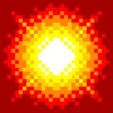8-Bit-Pixel-Kunst Explosion Lizenzfreie Stockbilder
