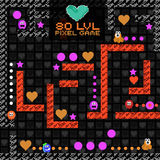 8-Bit Pixel Retro Arcade Game. Old video game design. Vector illustration royalty free illustration