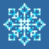 8-Bit Pixel Snowflake. EPS8 Vector with each square separated for easy modifications Royalty Free Stock Image