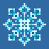 8-Bit Pixel Snowflake Royalty Free Stock Image