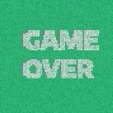 8-Bit-Pixel-Spiel über Mitteilung Lizenzfreies Stockbild
