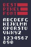 Pixel Art Alphabet Stock Image