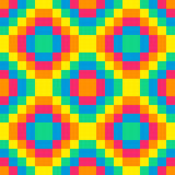 8-bit seamless rainbow diamond pattern background tile. Using pink, orange, yellow, green and blue royalty free illustration