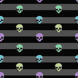 8bit Skull pattern color backgroung. 8bit Skull pattern color with backgraund Royalty Free Illustration