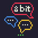 8 bit speech bubbles Stock Photos