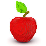 8-bit style red apple. Isolated on a white background Stock Photos