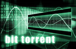 Bit Torrent. Download Network Internet Technology Stock Images