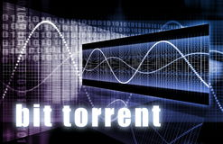Bit Torrent. Download Network Internet Technology Royalty Free Stock Image