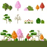 bit tree set vector illustration