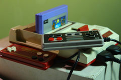 8 bit video game console nintendo Royalty Free Stock Photography