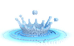 8-bit water splash Royalty Free Stock Photo